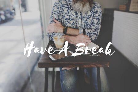 have on: Have Break Travel Journey Freedom Concept Stock Photo