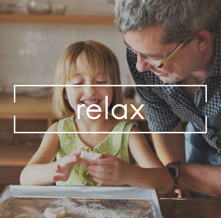 grand daughter: Relaxation Calm Chill Peace Resting Vacation Concept