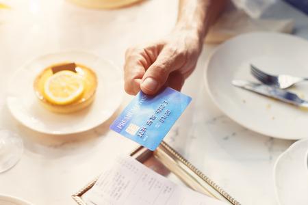 owed: Credit Card Payment Dinner Restaurant Concept