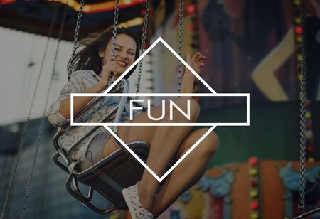 have fun: Have Fun Happiness Amusement Enjoyment Pleasure Concept Stock Photo