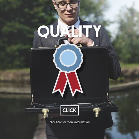 Quality Service Best Guarantee Value Concept Stock Photo