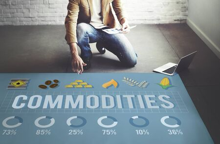 in demand: Commodities Demand Distribution Economy Concept