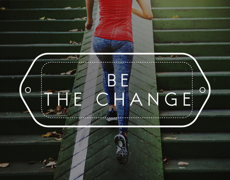 be the change: Be the Change Choise Development Improve Concept