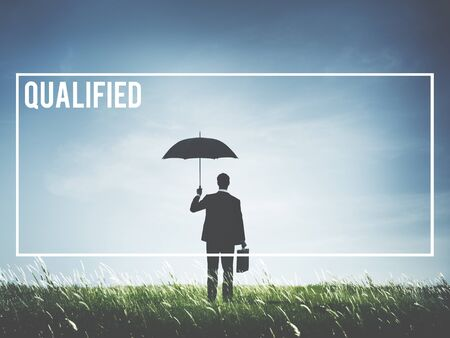 skilled: Qualified Professional Expert Skilled Leader Concept