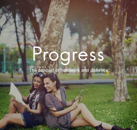 paciencia: El progreso Producto Hardwork paciencia concepto gráfico