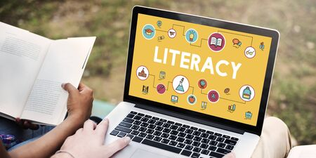 literacy: Lesson Learning Literacy Knowledge Education Concept Stock Photo
