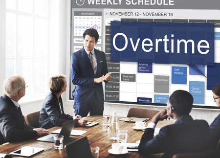 additional training: Overtime Hard Working Overload Concept