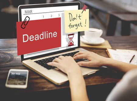 cutoff date: Deadline Note Calendar Planner Concept