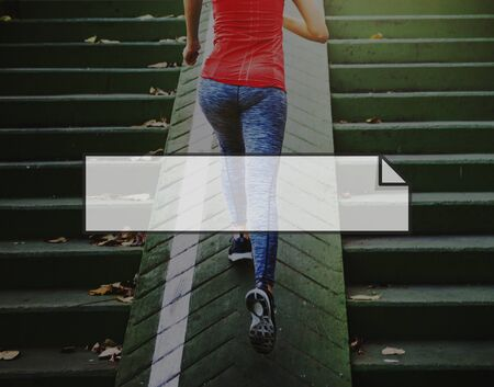 get a workout: Fitness Healthy Lifestyle Frame Graphic Concept Stock Photo