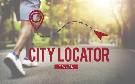 metropolis: City Locator Direction Metropolis Population Concept