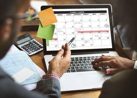 weekly: Weekly Planner Schedule Memo Timeline Concept