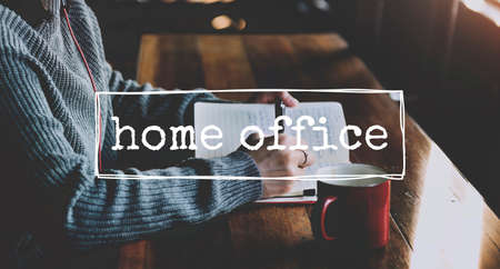 home office: Home Office Work Job Independance Concept