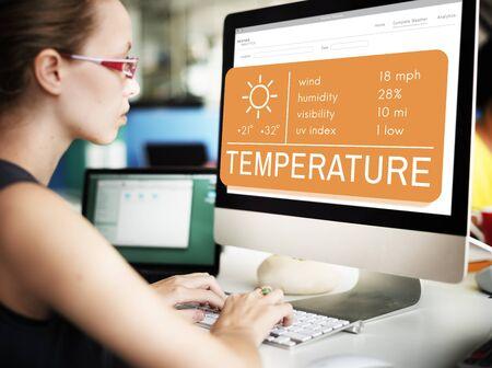 Temperature Heat Hot Weather Climate Concept