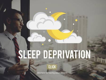 lack of confidence: Sleep Deprivation Insomnia Problem Narcolepsy Concept Stock Photo