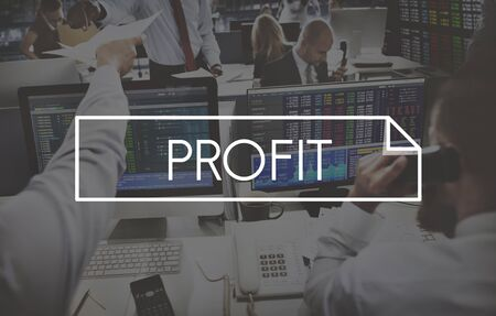 gain: Profit Gain Earn Accounting Finance Concept
