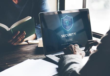 Pare-feu de sécurité Protection des renseignements personnels Page d'accueil Concept Banque d'images