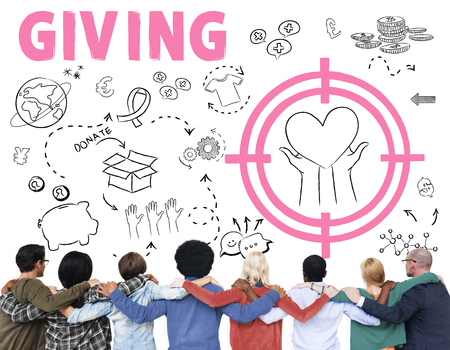 organ donation: Donations Foundation Giving Help Welfare Charity Concept Stock Photo