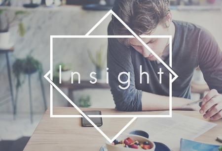 percepción: Insight Percepción Ideas Opinión Concept