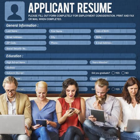 Resume Career Recruitment Employment Occupation Concept Stock Photo