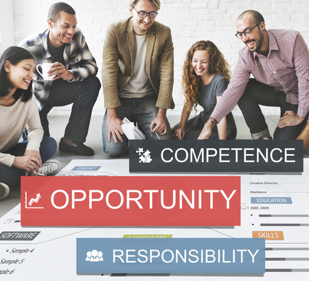 Group of people with opportunity concept