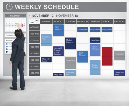 weekly: Weekly Schedule To Do List Appointment Concept