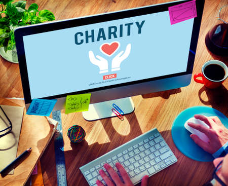 charity and relief work: Charity Donation Help Support Charitable Assistance Concept