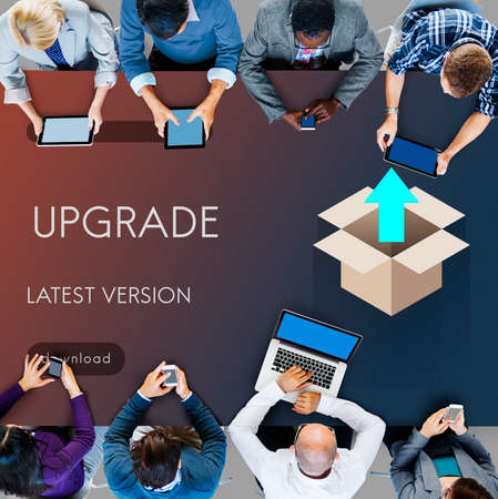 version: Upgrade Update New Version Better Graphics Concept