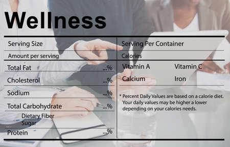 health care analytics: Healthcare Ingredients Welness Welbeing Nutrition Concept