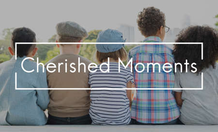 the moments: Cherished Moments Children Childhood Innocent Kids Concept