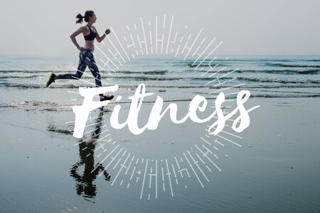 get a workout: Get Fit Exercise Fitness Physical Training Workout Concept Stock Photo