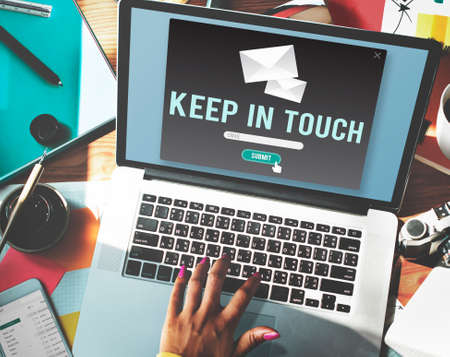 keep in touch: Keep In Touch Connection Relationship Follow Concept