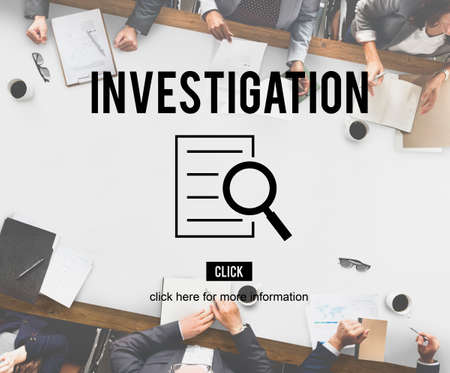 discovery: Investigation Results Analysis Discovery Concept Stock Photo