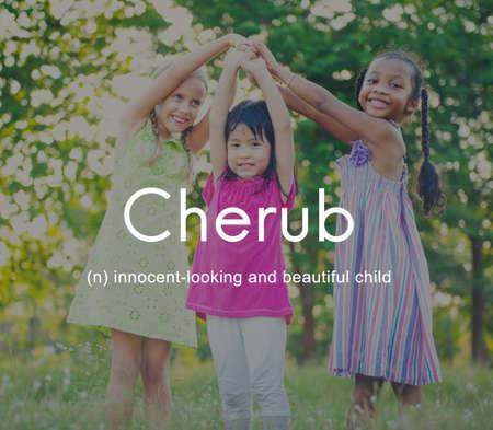 adolescence: Cherub Kids Child Adolescence Young Toddler Concept