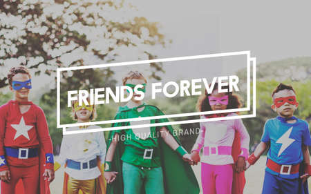 forever: Friendship Friends Forever Togetherness Connection Concept Stock Photo