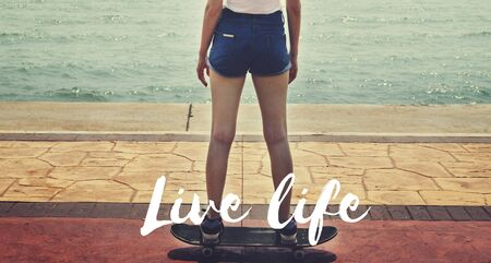 once person: Live Your Life YOLO You Only LIve Once Concept