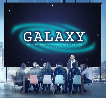 astronomy: Galaxy Astronomy Business Education Graphic Concept