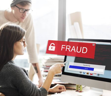 Fraud Hacking Spam Scam Phising Concept Stock Photo