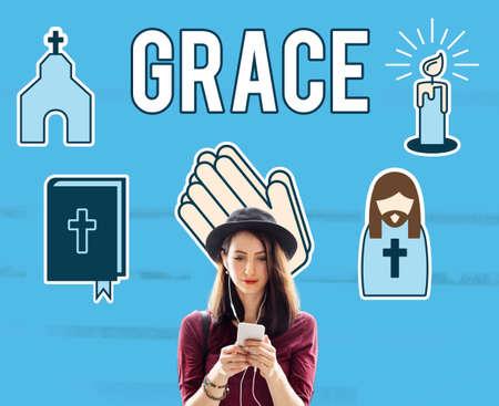 refinement: Grace Gracful Hope Jesus Christ Spiritual Worship Concept
