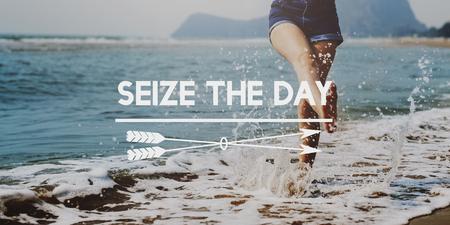 夏季休暇休日ビーチ日当たりの良い概念