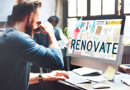 decorating: Renovate Decorating Construction Composition Concept