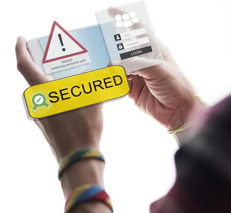 authorise: Access Allowed Entrust Password Secured Concept