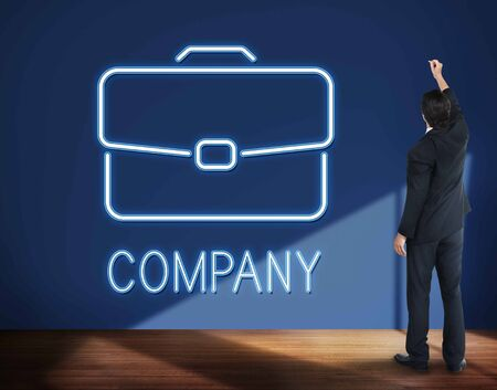 business briefcase: Business Briefcase Confidential Growth Collaboration Concept