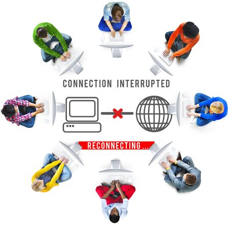 unavailable: Interrupted Inaccessible Unavailable Disconnected Error Concept Stock Photo