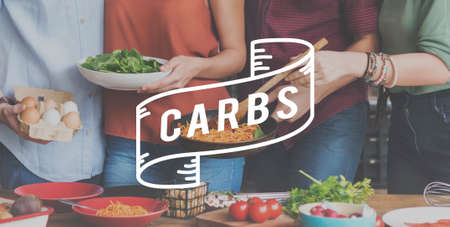 carbs: Carbs Calories Carbohydrate Nutrition Energy Food Concept Stock Photo