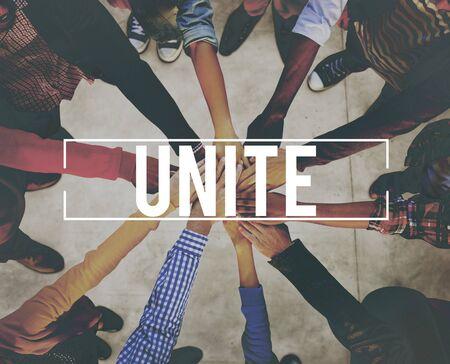 unite: Unite Community Connection Cooperation Support Concept Stock Photo