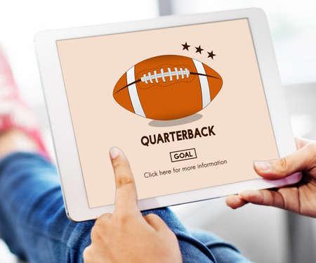 quarterback: American Footbal Quarterback Player Team Concept