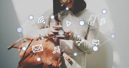 internet network: Social Networking Global Communications Technology Connection Concept