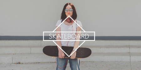 Skateboard Skater Teenager Street style Concept Stock Photo