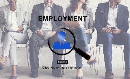 employed: Emplotment Employed Hiring Career Occupation Concept Stock Photo