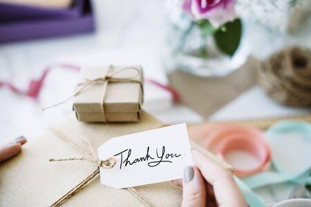 recieve: Gift Present Box Greeting Celebration Concept Stock Photo